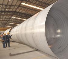 香港客户3米超大口径不锈钢焊管